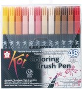 Koi Color Brush Set - 48 Stuks