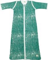 Meyco Fine Lines babyslaapzak met afritsbare mouw gevoerd - 110 cm - Emerald green