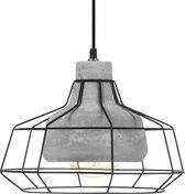 EGLO Vintage Consett Hanglamp - 1 Lichts - Zwart, Beton