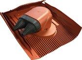 Klober Dubbele Kabeldoorvoer Rood Kabel Airco, Zonnepanelen, Boiler, etc