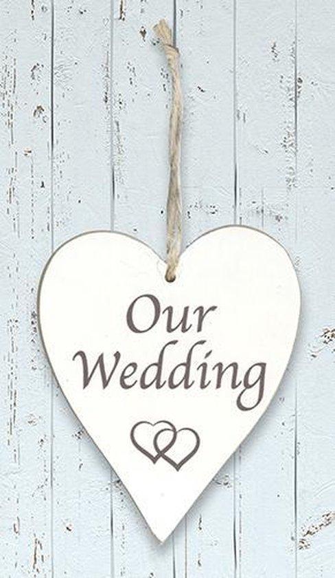 """Houten hart """"Our Wedding"""""""