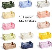HAY Colour Crates Boodschappenkrat / Vouwkrat Small set van 10 stuks