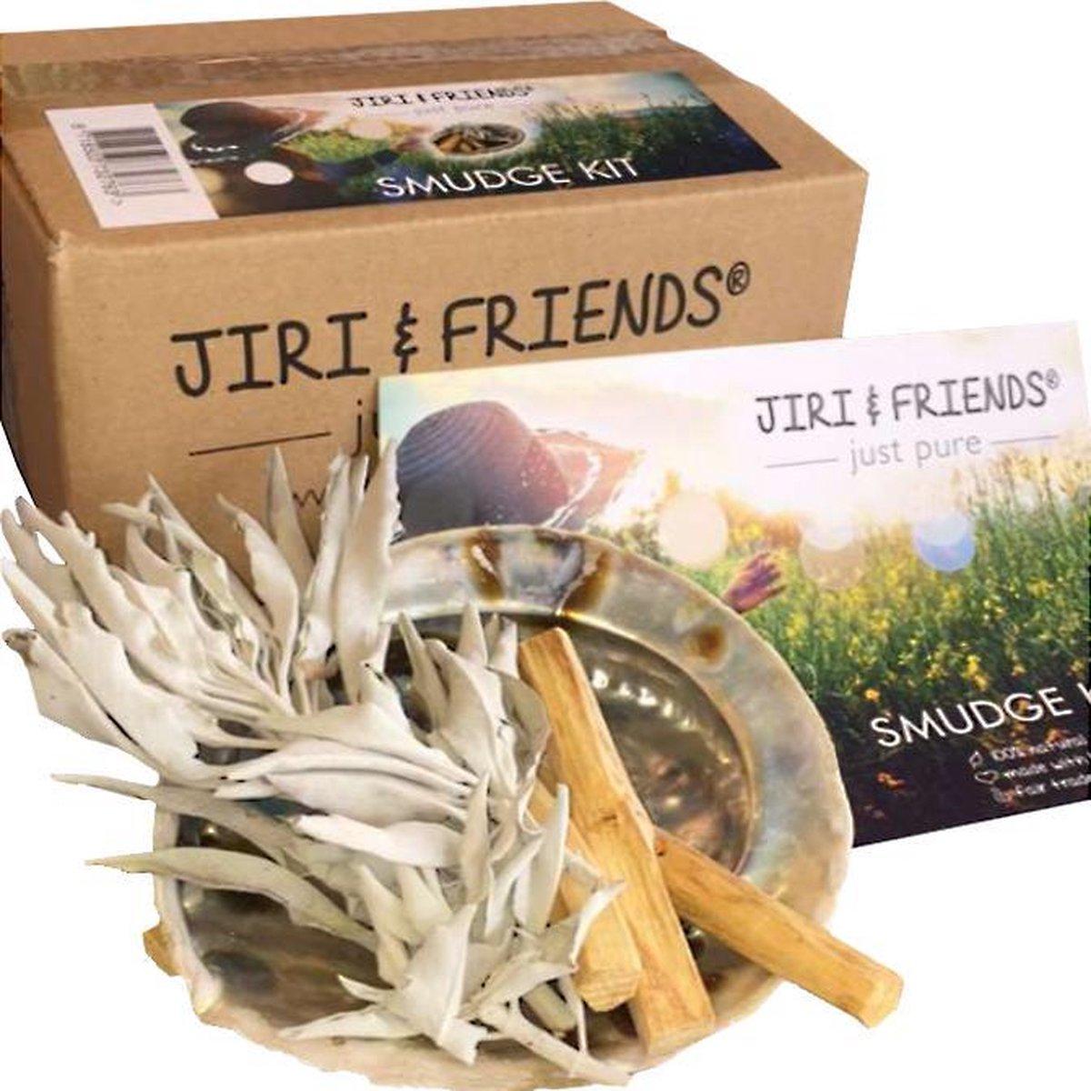 Reinig je Huis Pakket Jiri Friends - Smudgekit Witte Salie - Palo Santo Sticks - Abalone Schelp - Jiri & Friends