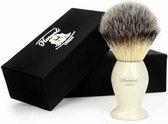 Synthetische Haarscheerkwast Met Ivoren Steel / Basis Voor Hem, cadeau voor heren