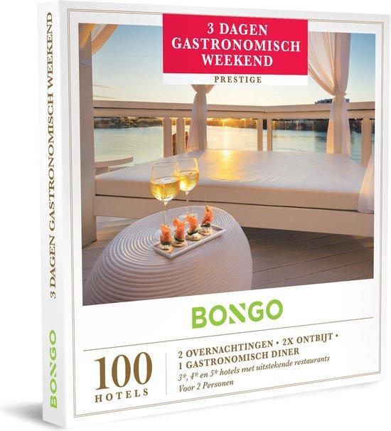 Bongo Bon Nederland - 3 Dagen Gastronomisch Weekend Cadeaubon - Cadeaukaart cadeau voor koppels | 100 charmante hotels met een gastronomische keuken