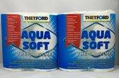 2 X Thetford Aqua Soft Toiletpapier - 4 Rollen
