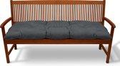 Beautissu Bankkussen Flair BK – Zitkussen Tuinkussen 150x50x8 cm grafiet grijs - kussen voor tuinbank