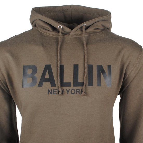 Ballin Heren Trui Capuchon Sweat Kaki voor Heren