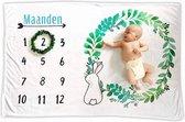 Mijlpaaldeken Milestone Blanket Kraamcadeau Milestonedeken - Babyshower