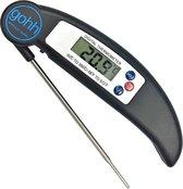 Gohh® Digitale Vleesthermometer (Zwart) - BBQ - Inklapbare Sonde - tot 300°C