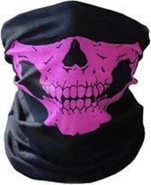 Balaclava Gezicht Shield Tactische Masker Roze 3D Schedel Sport Nek Warm Motor Masker Volgelaatsmasker Winddicht Motorfiets Mondkap Ski Outdoor Sport