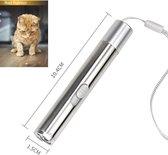 USB Laserpen - Katten - Speeltje - Laserlampje - Laserpointer - Kat - UV - LED - RVS - Zilver - Oplaadbaar