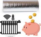 radiatorfolie isolatie 6m x 50cm x 3mm Radiatorfolie voor de muur achter de verwarming, Verwarmingsfolie op rol, isolatie achter radiator