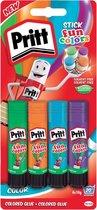 Pritt Stick Rainbow - 4x10 Gram - Yellow Green Blue Red - Pritt stift