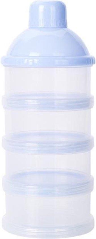 Melkpoeder bewaardoosje - Melkpoeder Toren - Melkpoeder doseerdoos - Melktoren - BLAUW