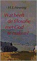 Wat Heeft De Filosofie Met God Te Maken