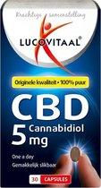 Lucovitaal CBD 5 miligram Cannabidiol Voedingssupplement - 30 capsules