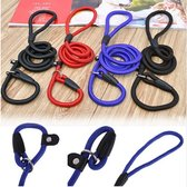 Sliplijn Met Trainings Halsband - Hondenriem - Zwart -130 cm