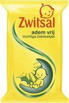 Zwitsal Vochtige Zakdoekjes Ademvrij - 8 x 20 st - Baby - Voordeelverpakking