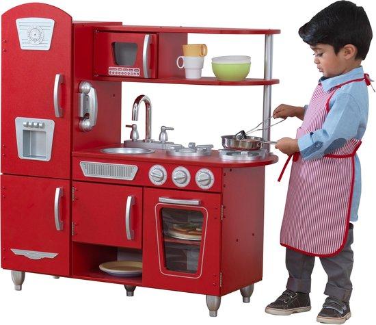 KidKraft Vintage Houten Keukentje Rood - Speelkeuken