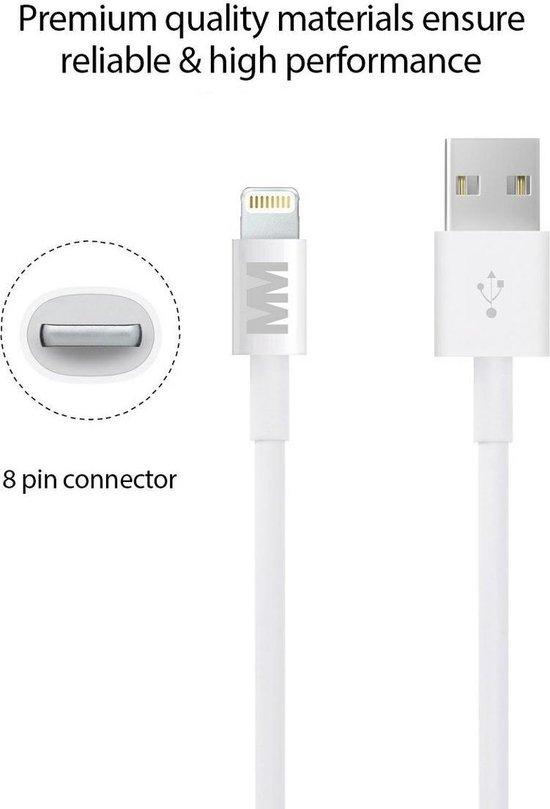 High speed autolader oplaad adapter met 2 USB poorten 2.1A + 1.0A met een top kwaliteit lightning kabel voor Apple iPhone, iPad en iPod