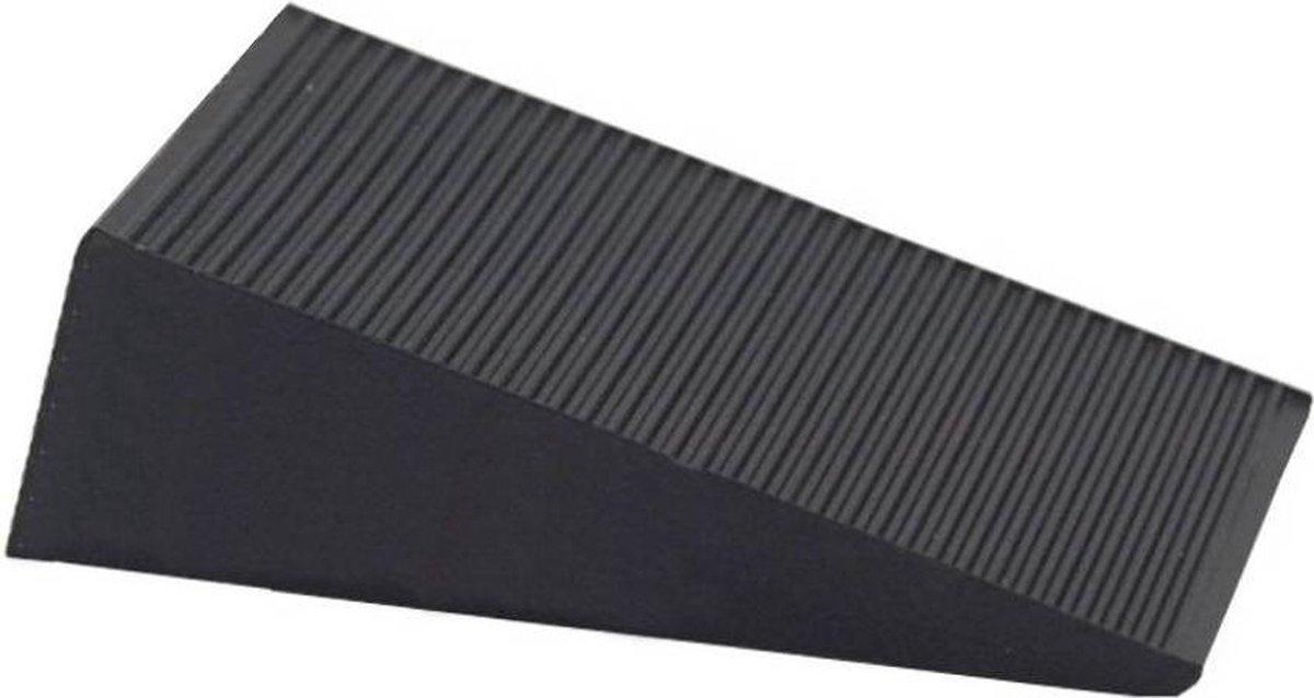 Deurstopper / Deurwig Rubber 16mm Zwart