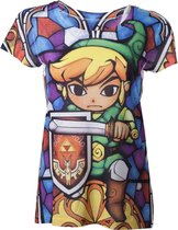 Officieel gelicenseerd - Nintendo - Zelda Sublimation Dames T-Shirt - Dames - L