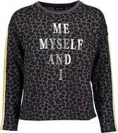 Blue Seven Meisjes Sweatshirt - antraciet - Maat 176