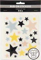 Creotime Rub-on Stickers Sterren 12 X 15,5 Cm
