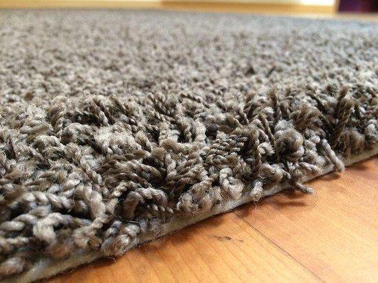 Hoogpolige badmat bruin - 60 x 100 cm - Merkloos