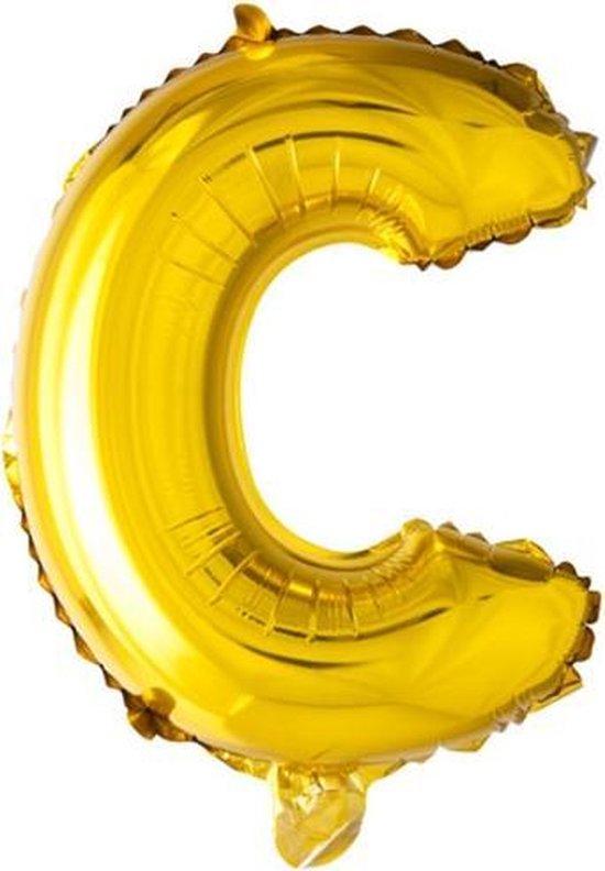 ballon - 100 cm - goud - letter - C