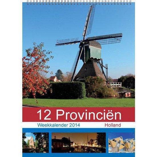 Cover van het boek '12 provinciën weeknotitie kalender 2014' van  Comello