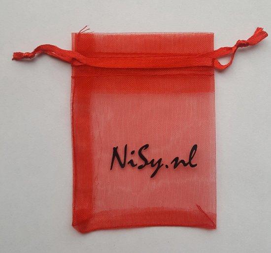 NiSy.nl Duif / Vogel + Rondje Ketting - Dames Dubbele Hanger - Goudkleurig - Merkloos