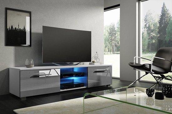 Tv Kast Wit Modern.Bol Com Tv Kast Hoogglans Wit Grijs Modern Design