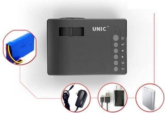Unic UC18 LED Mini Beamer - Zwart