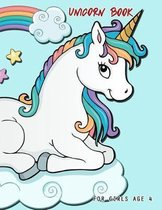 Unicorn Book for Girls Age 4