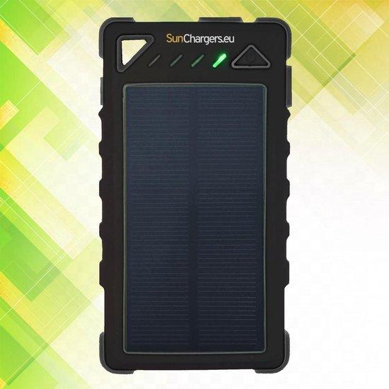 Smart 8.000 mAh Solar Powerbank Zwart