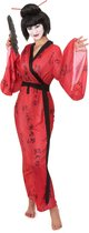LUCIDA - Geisha kostuum met Japanse tekens voor vrouwen - Volwassenen kostuums