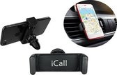 Universele Autohouder Zwart - 360 Graden Draaibaar / Rotatable - Car Mount Holder - Ventilatie Rooster (Apple iPhone / Samsung / Huawei / LG / HTC / Sony Experia / Nokia / HTC / Asus)