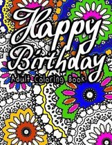 Happy Birthday Adult Coloring Book