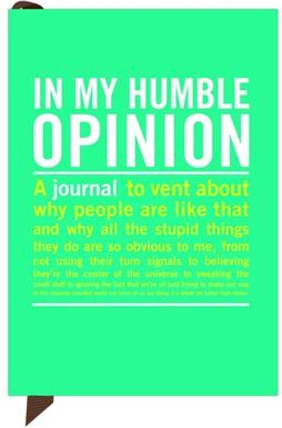 Knock Knock In My Humble Opinion Mini Inner Truth Journal