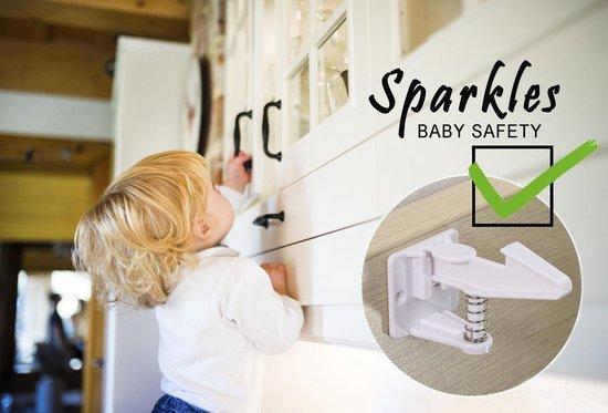 Sparkles Baby Safety onzichtbare lade- & kastsloten kinderbeveiliging  - 12 stuks - zelfklevend