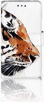 Nokia 2 Uniek Wallet Book Case Hoesje Watercolor Tiger