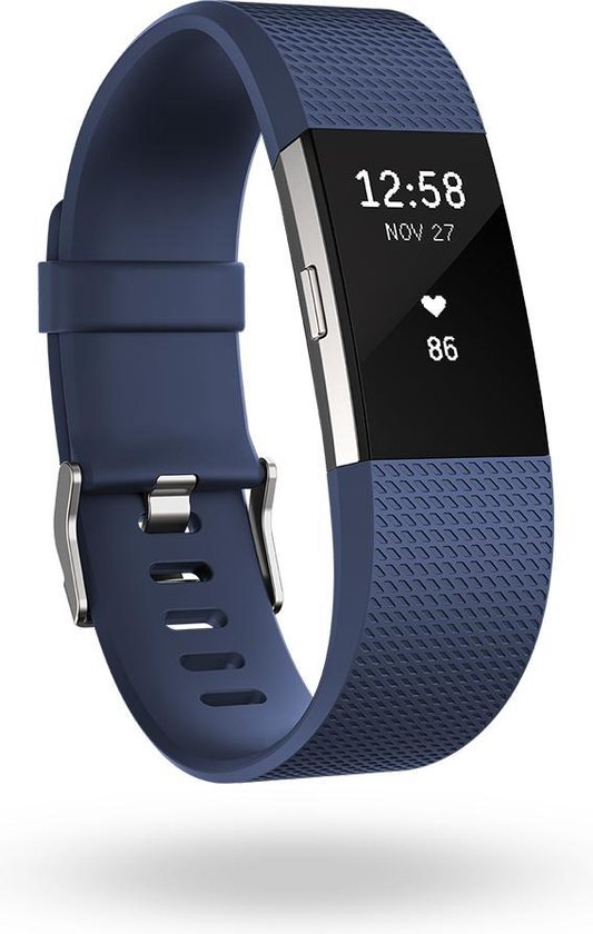 Fitbit Charge 2 - Activity tracker - Blauw - Large