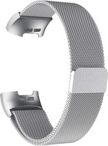Gymston® Milanees bandje - Fitbit Charge 3 - Fitbit Charge 4 - Zilver - Medium