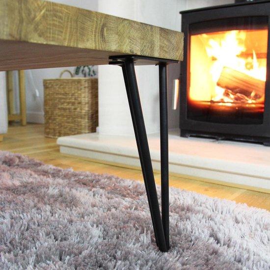 4 x 12 Hairpin Legs - 2 Prong - 12mm - Black - SKISKI LEGS
