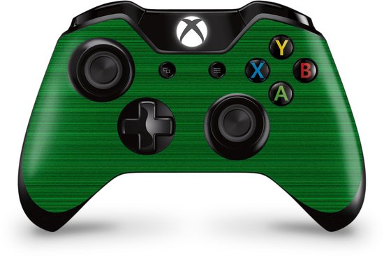 Xbox One Controller Skin Brushed Groen Sticker