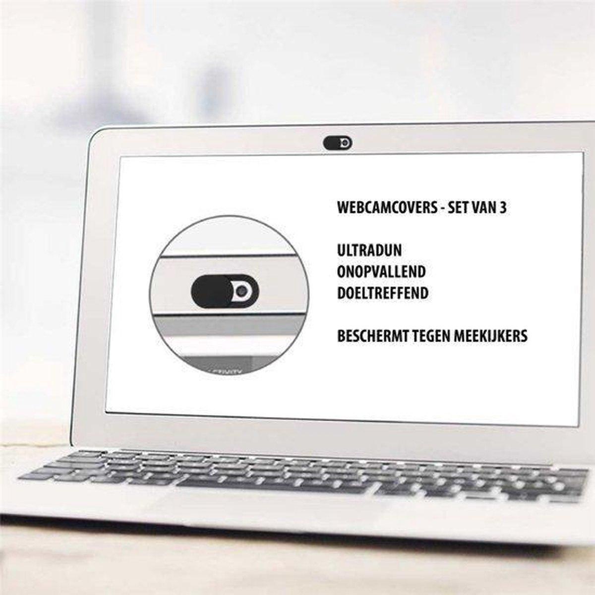 Webcam Cover Wit (3 pack) / Ultradun, Onopvallend en Doeltreffend / Beschermt Tegen Meekijkers!