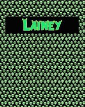 120 Page Handwriting Practice Book with Green Alien Cover Lainey