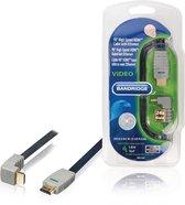 Bandridge HDMI 1.4 High Speed with Ethernet kabel haaks naar beneden - 5 meter
